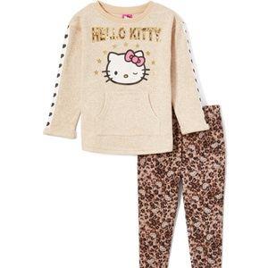 NWT Hello Kitty Tunic Top & Leopard Print Leggings